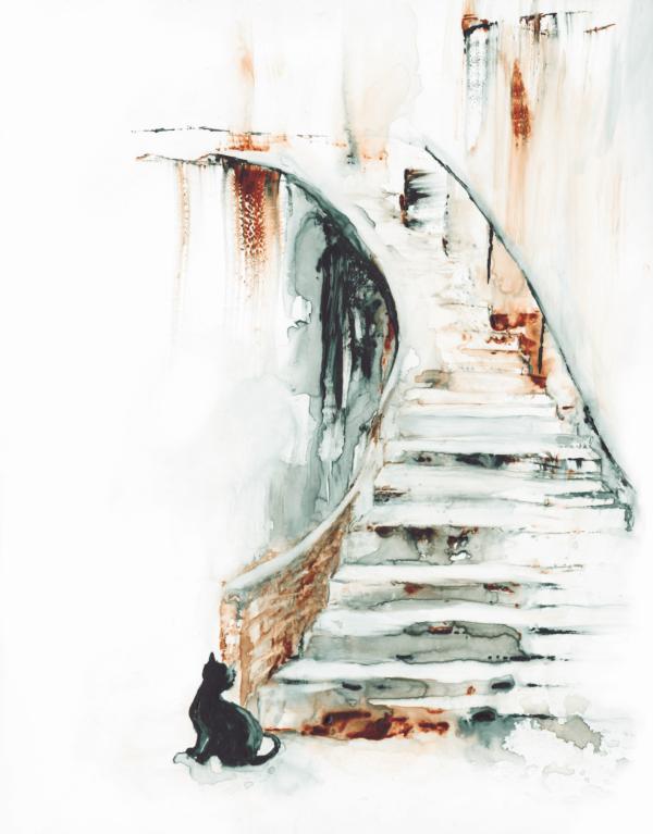 Something moved by Zuzana Edwards, Watercolour Fine art print