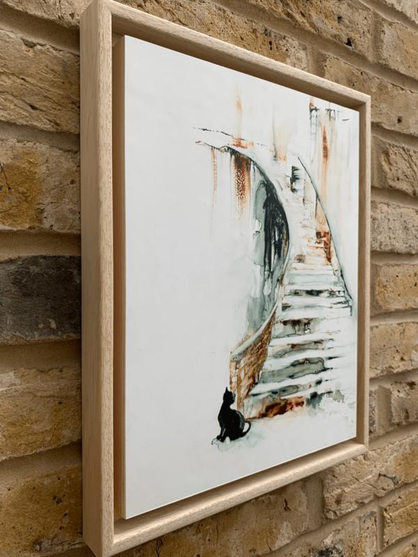 Something Moved by Zuzana Edwards in Floating Frame 11 x 14 inch, Side Shot