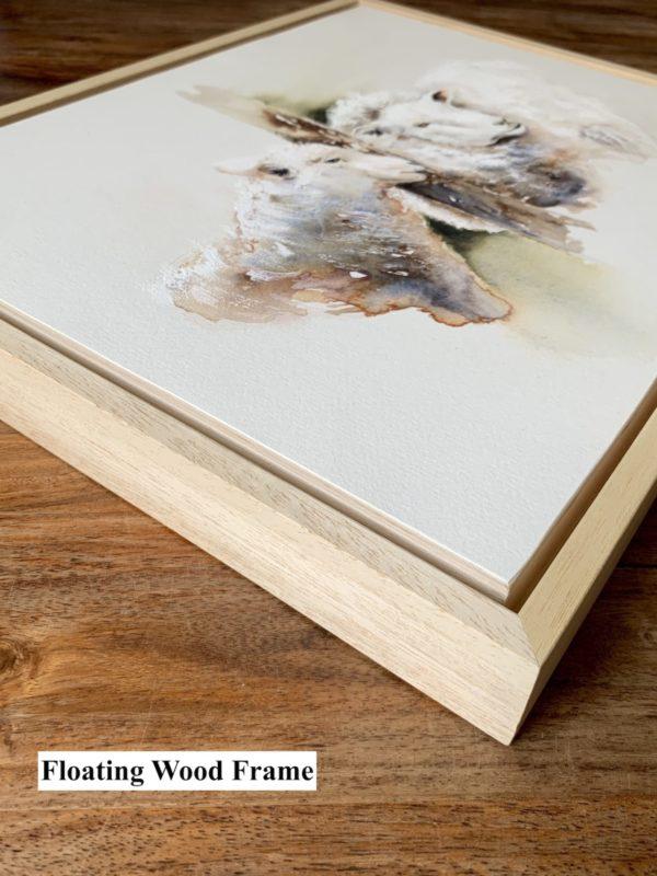 Tête-à-tête, Sheep watercolour painting